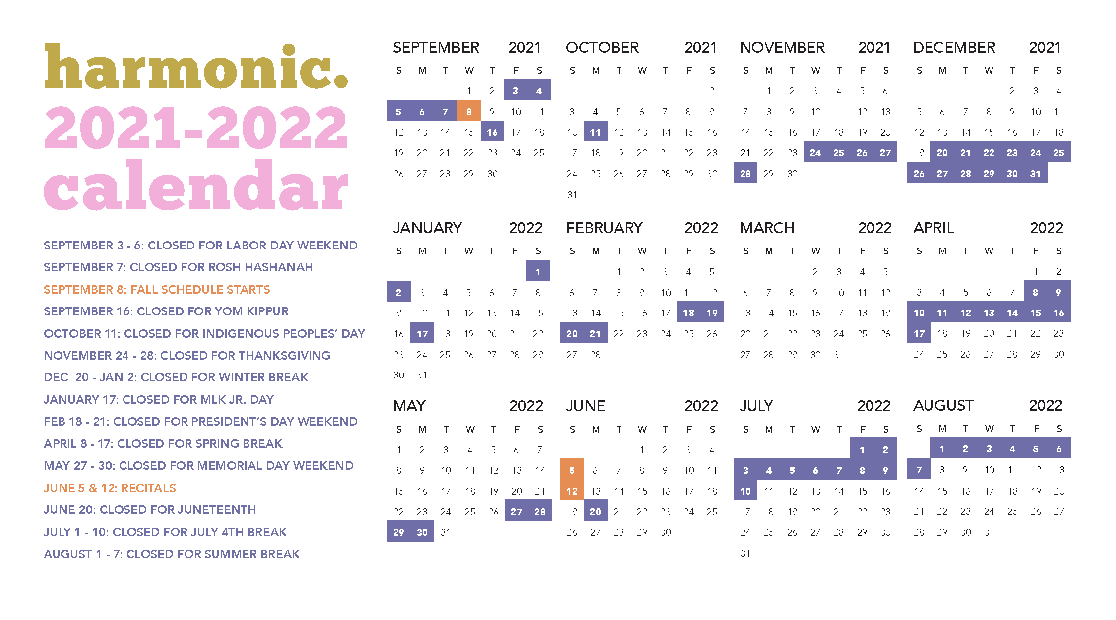 Harmonic Calendar - click to open in full size
